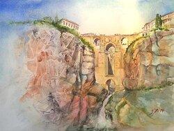 Ronda bron-Spanien