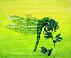 Grön trollslända