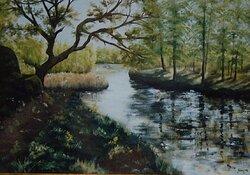 Den gamla eken vid ån