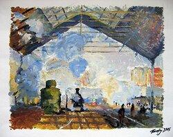Studie efter Claude Monet