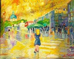 Regn vid Odenplan