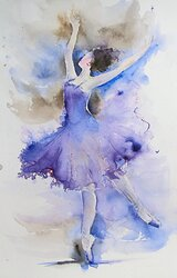 Ballet study - blue