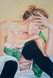 Schieles modell 2, inramad