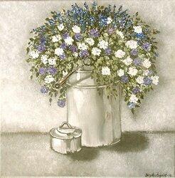 Mjölkkruka med blomster