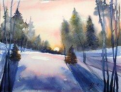 Vintersolnedgång