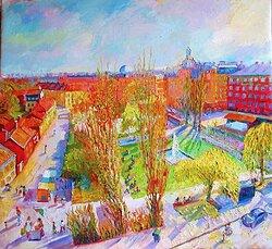 Nytorget i Stockholm våren