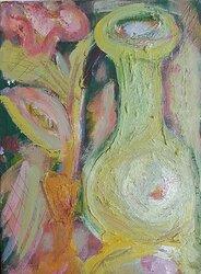 Vasen och blomman