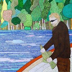 En fiskande rockstar