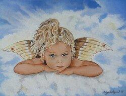 Ängel på moln