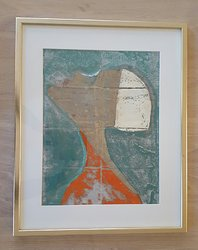 Oilprint with glas, passepartout and frame.