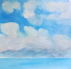 Moln över havet I