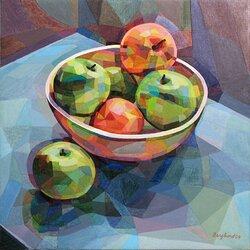 Äpplen i vit skål
