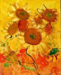 Not Van Gogh Sunflowers