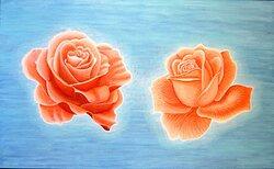 Två rosor