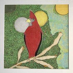 Red bird called Nisse