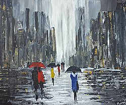 """Paris in rain"""