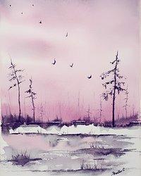 Rosaskimrande våt