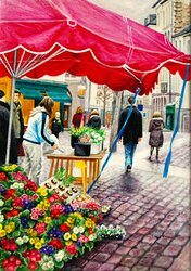 Blomstermarknarden i Rennes