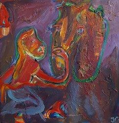 Jakobs hästar Fabulös och Fabula/ Jacob's horses Fabulös and Fabula