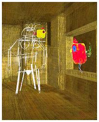 Kvinna med tuppar   3D grafik