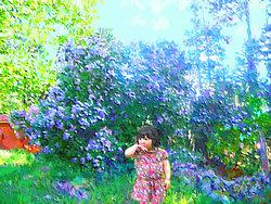 Flickan bakom huset   Datamålning
