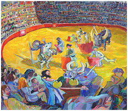 La fiesta  Digital målning