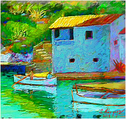 Cala Figera Mallorca  Digital målning