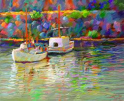 Cala Figera Mallorca II  Digital målning