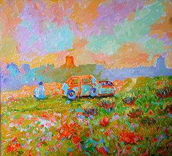 Desolation1 Oljemålning