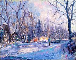 Snö vid Fallet  Digital målning