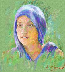 Porträtt av spansk kvinna