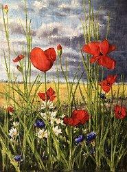 Blommande ogräs