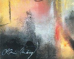 Canvas akrylmålning nr5 på träblock