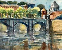 Bron över Tibern, Rom