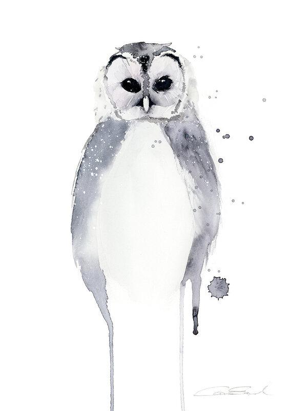 Vintergrå uggla