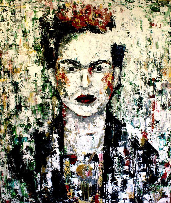 Akrylmålning Frida i Oss, Paula Rindborg