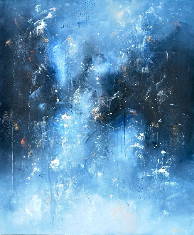 Akrylmålning Släpp mig var som helst, Maria Nahlin