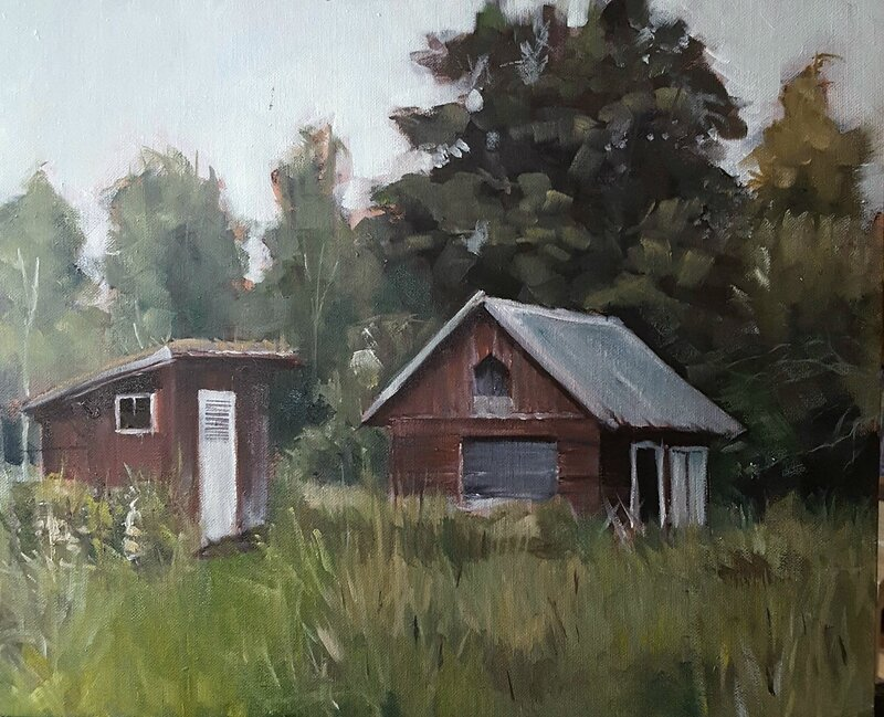 Stora Blötskog Småland Dass och uthuset