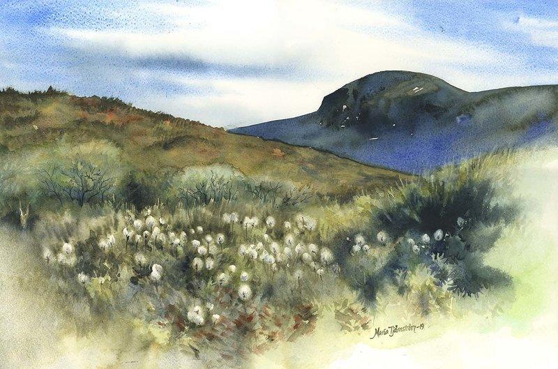 Akvarell Vid foten av fjället, Maria Tjärnström