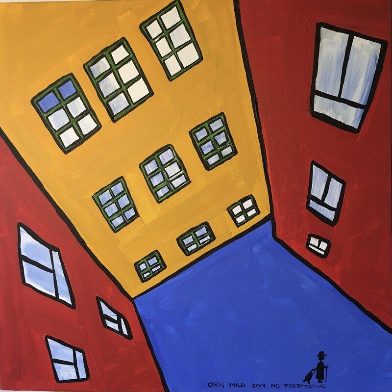 "Akrylmålning ""No perspective"", Orsi Mild"