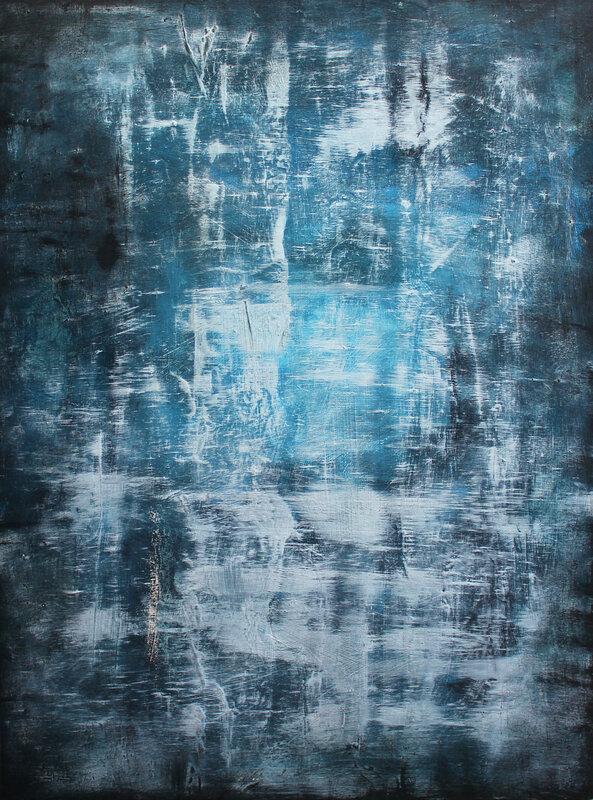Akrylmålning Blue rust, Pontus Wåhlström