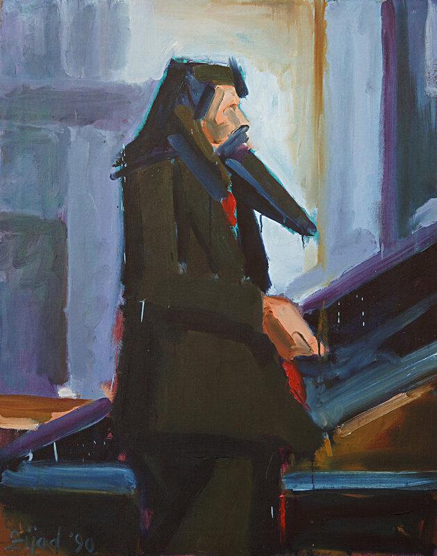 Oljemålning Porträtt av Vladimi Dodig-Trokut, Zijad Mehmedovic