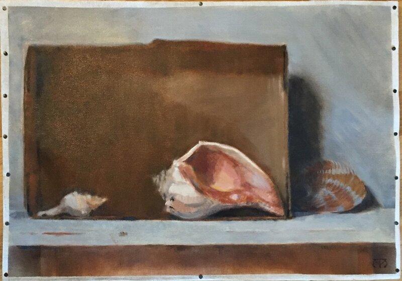 Oljemålning Dialog, Maura Tavares