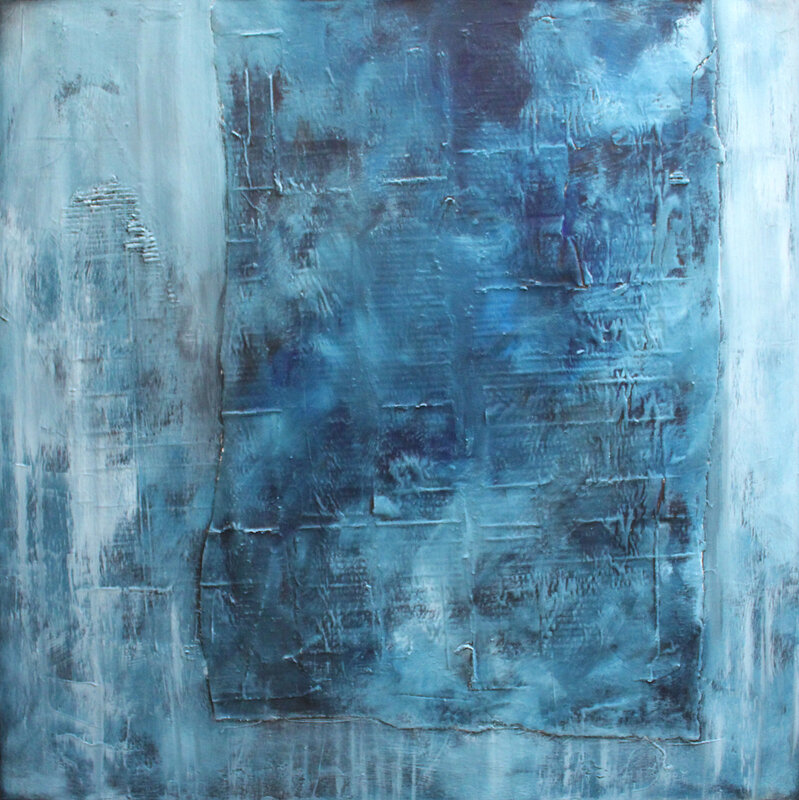 Akrylmålning Runny blue, Pontus Wåhlström