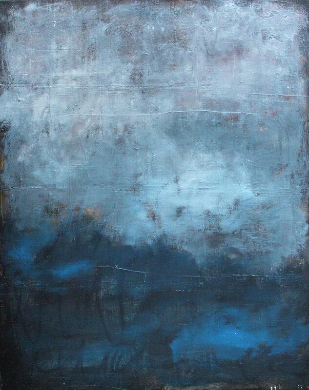 Akrylmålning Blue mist, Pontus Wåhlström