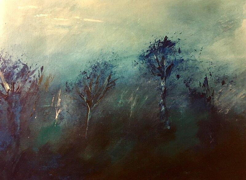 Träd i dunklet