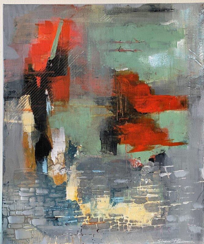 Akrylmålning Under ytan, Sirpa Tiderman