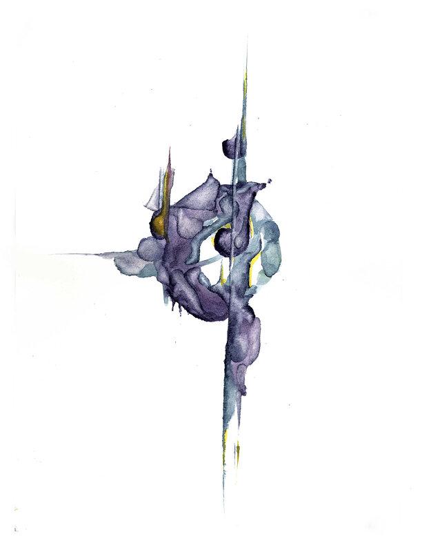 Akvarell Prototype Dancer, Isis Lindskog