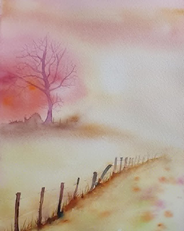 Akvarell Natures true color, Mia Älegård