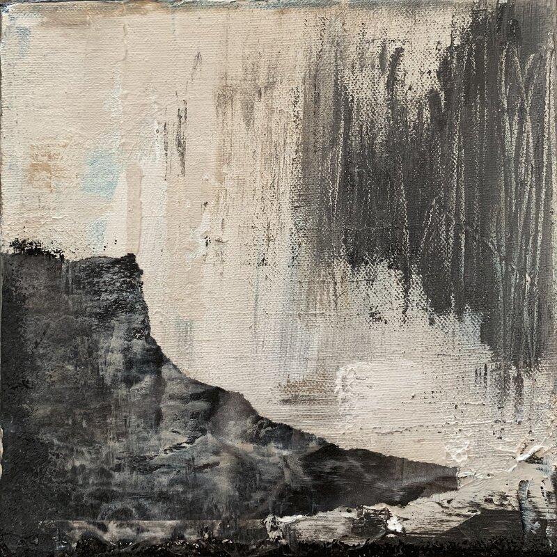 Akrylmålning Startled by the storm 1, Malin Lidén